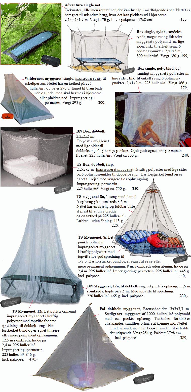 myggenet til rejse